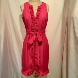 Gianni Bini Dress Pink Ruffles Size 2